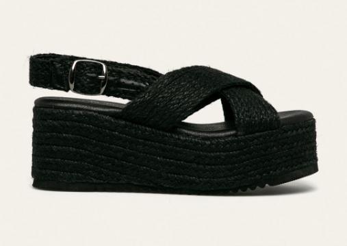 Sandale femei fashion moderne negre cu platforma inalta ieftine 2020