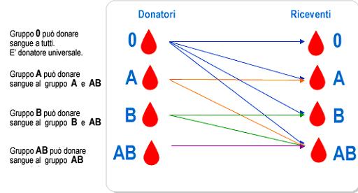 Donatori gruppi sanguigni
