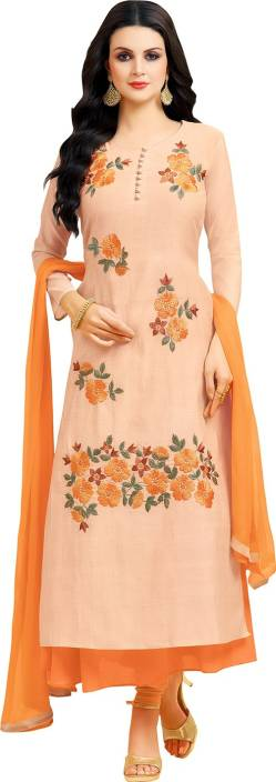 17255fca186 Click Here To Buy Fashion Basket Crepe Embroidered Semi-stitched Salwar  Suit Dupatta Material Rs 1325  - Only