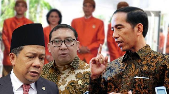 Fahri Hamzah, Fadli Zon, Jokowi