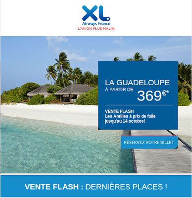 Vente Flash Xl Airways : Guadeloupe à 369 euros