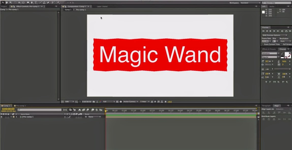 Download Magic Wand Tool Preset for After Effects   Computer