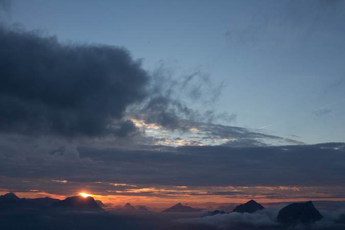 Sonnenuntergang | Eisenerzer Alpen Höhenweg