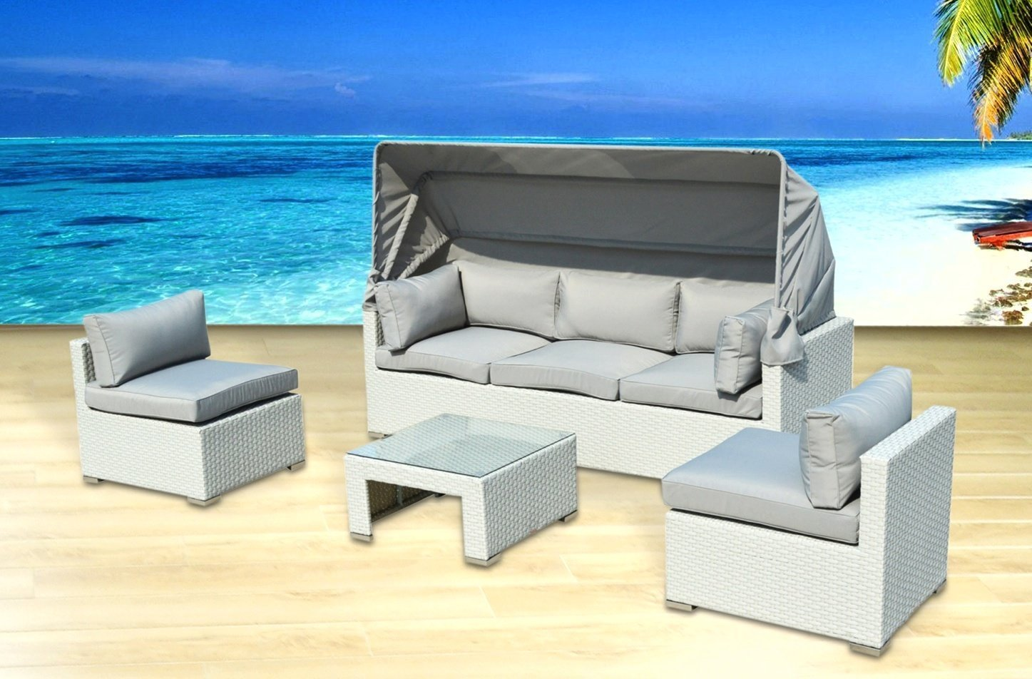 patio couch set outdoor patio furniture backyard sofa modern all weather wicker sectional pc rattan resin couch set