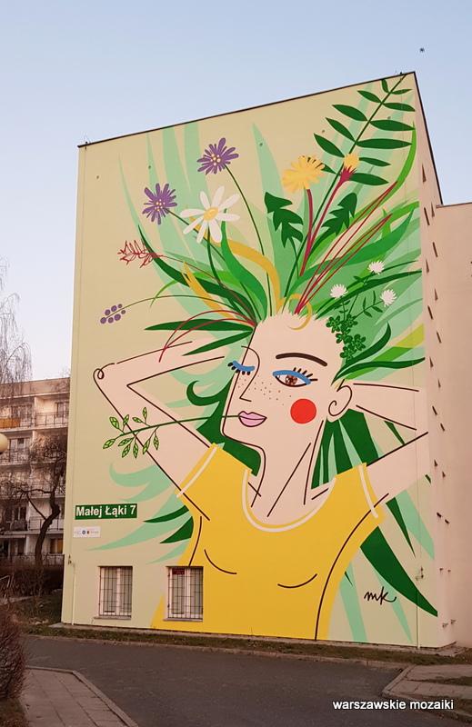 Warszawa Warsaw budżet partycypacyjny murale ursynowskie streetart muralart  warszawskie murale graffiti  Małej Łąki