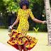 Yellow Ankara Gown Style