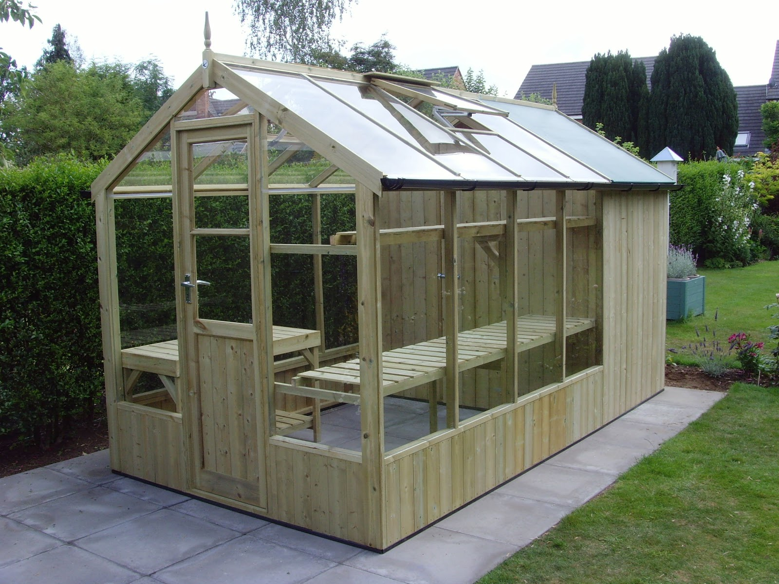 Wooden Lean To Greenhouse Kits Modern House