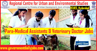 RCUES Veterinary Doctor Recruitment 2018 | Apply for 221 Para Medical Assistant Jobs