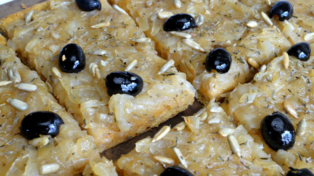Tarte Patate douce & Oignons caramélisés