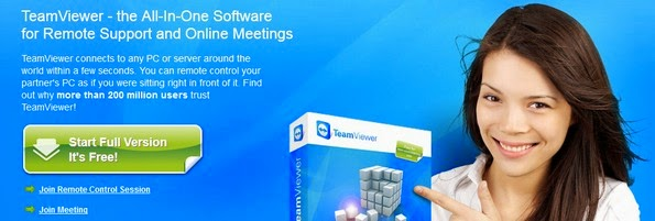 TeamViewer remote desktop sharing system