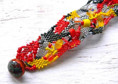 купить браслет из бисера фриформ украшения ручной работы анна белоус