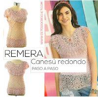 blusa canesu redondo crochet