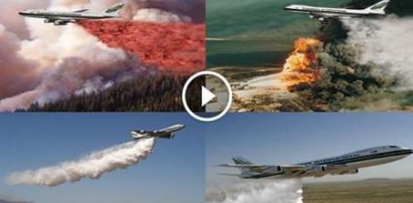 طائرة أمريكية عملاقة تشارك في إطفاء النيران في الأراضي الفلسطينية المحتلة حتى الان اكثر من 10 دول ولم بستطيعو اخمادها