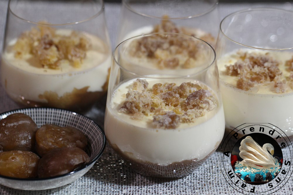 Panna cotta à la crème de marron au Cook Expert