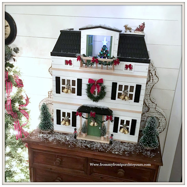 Christmas-Foyer-Farmhouse Style-Cottage Style-Hearth & Hand-Doll House-From My Front Porch To Yours