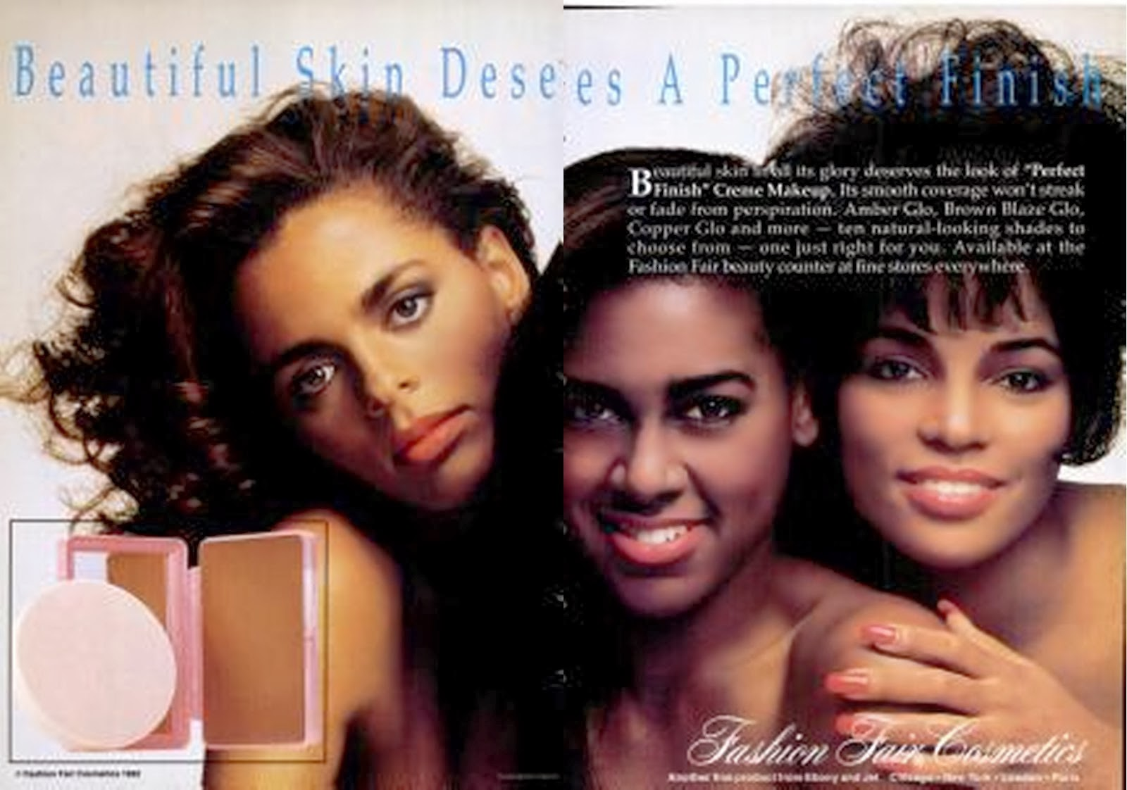 Fashion Fair Beauty Products: Black Ethnic Advertising / Magazine Covers: Advertising