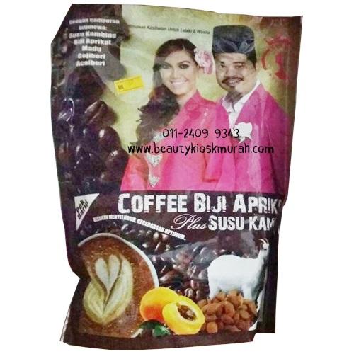 Coffee Biji Aprikot Plus Susu Kambing