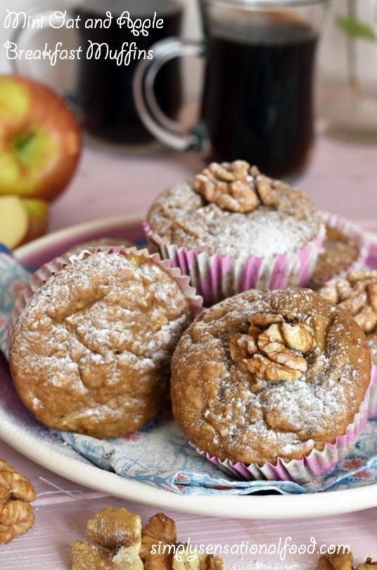 Vegan Mini Oat and Apple breakfast Muffins