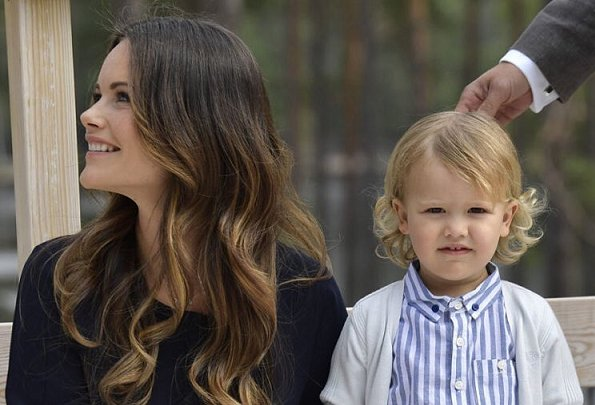 Prince Carl Philip, Princess Sofia and Prince Alexander, the Duke of Södermanland County visited the Nynas Nature Reserve