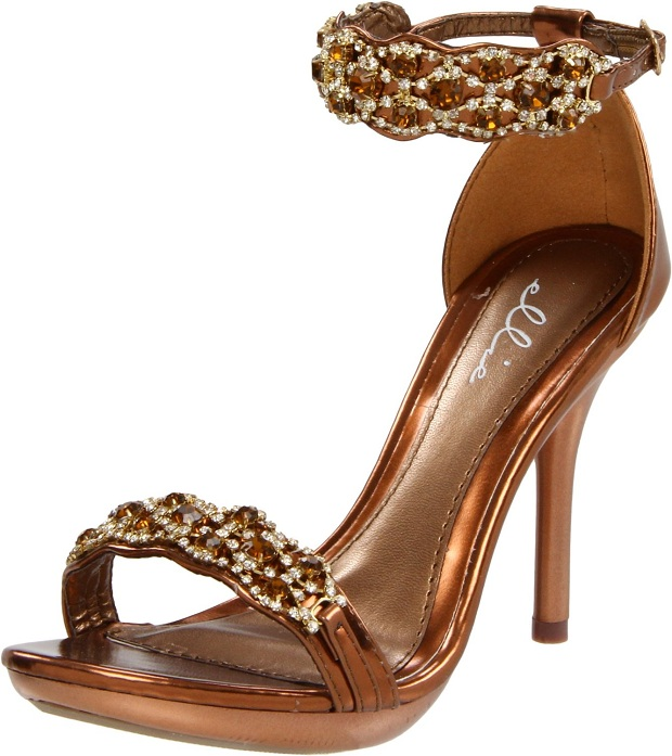 High Heel Bronze Prom Shoes