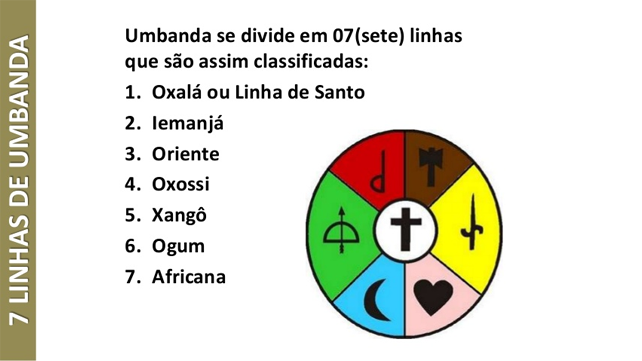 Resultado de imagem para sete linhas de umbanda