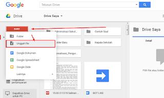 cara mengupload file di google drive