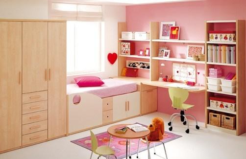 Dormitorios con muebles rosa para ni as dormitorios con - Armarios para habitacion nina ...