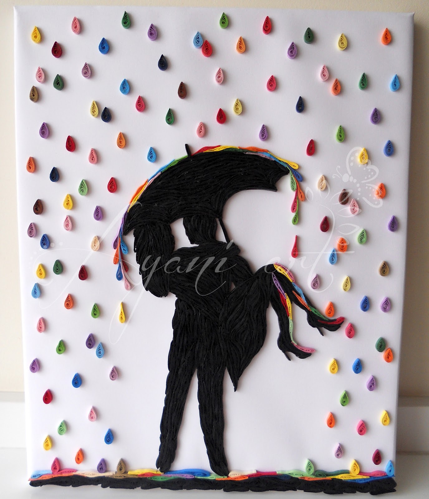 Calendar Wallpaper Quilling : Ayani art quilled rain of colors cm