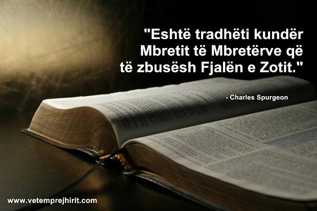 Fjala e Zotit, spurgeon shqip, sperxhen, thenie te krishtera,