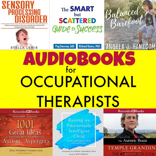These audiobooks for occupational therapists are great for advancing as an occupational therapist by reading the hot topics in the field, so that you can advocate for OT clients, educate the parents and teachers of kids on an occupational therapy caseload.