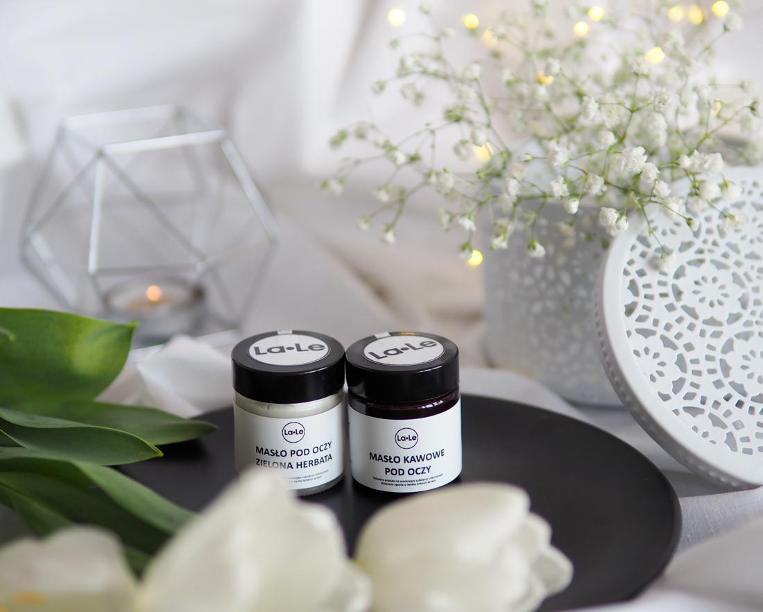Jak używać żeby pokochać? La-Le naturalne masło pod oczy: kawowe i zielona herbata