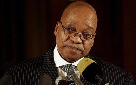 South African President Jacob Zuma was caught up in a personal corruption  scandal that he