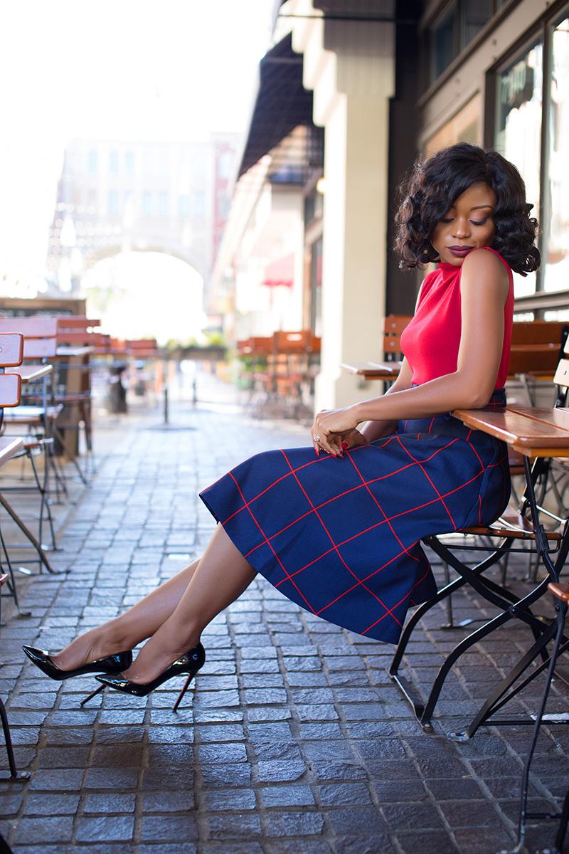 chicwish windowpane plaids belted midi-skirt, www.jadore-fashion.com