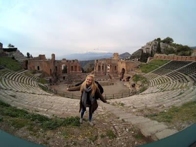 Taormina poza sezonem Teatr Grecki