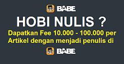 Hobi Menulis ? Dapatkan Fee 10.000 - 100.000 / Artikel dan Jadilah Penulis Jutawan !