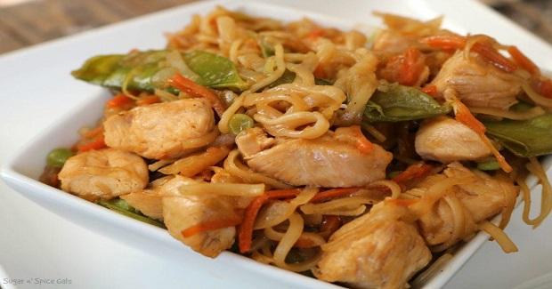 Spicy Chicken Lo Mein Recipe