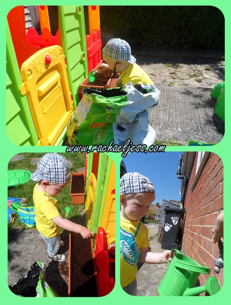 gardening toddler