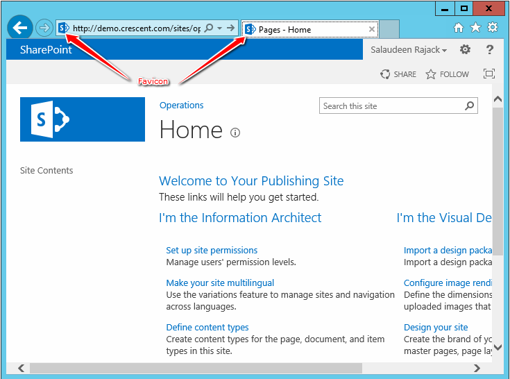 Change Favicon in SharePoint 2013