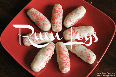 Holiday Survival Guide from a Mom of 4 - Bake Cookies including family favorites like Rum Logs