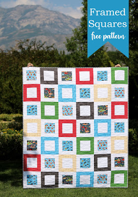 Framed Squares free quilt pattern from Andy of A Bright Corner