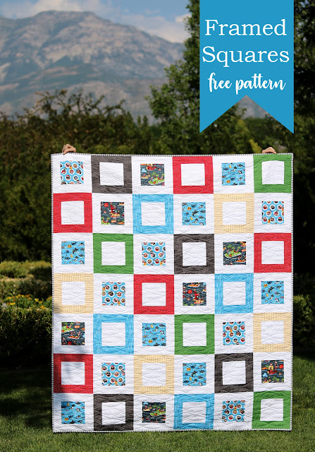 Framed Squares - a free quilt pattern from A Bright Corner