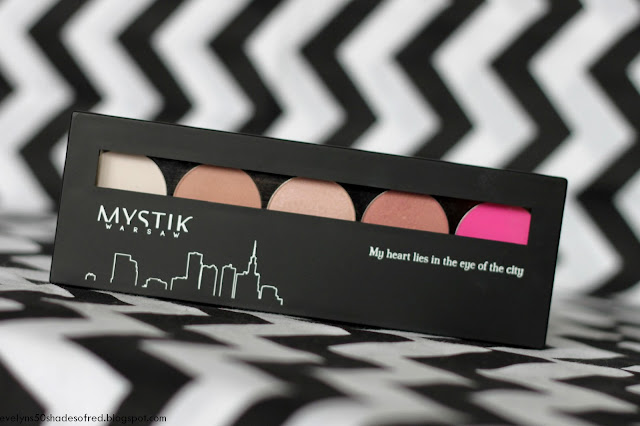 Kontigo Mystik Warsaw eyeshadow palette: subtle ,rose, pink ice, angel, electric
