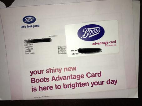 احصل على بطاقة من Boots مجانا وتصلك الى بيتك (إثبات الوصول)