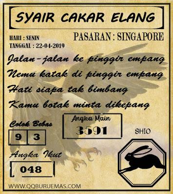 Syair SINGAPORE,22-04-2019
