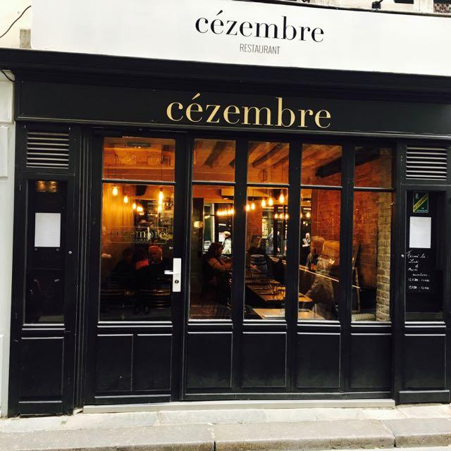 Paris Missives...: Cézembre -- Restaurant Review