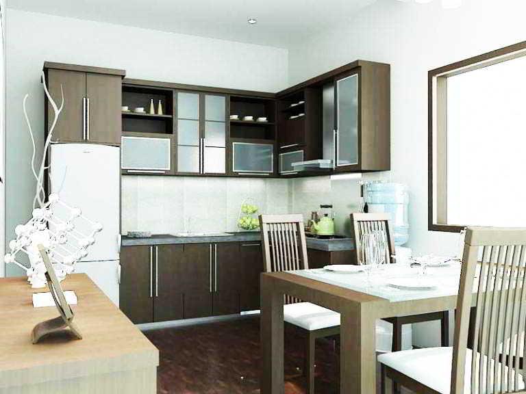 Desain Dapur Dan Ruang Makan Sempit Minimalis Sederhana