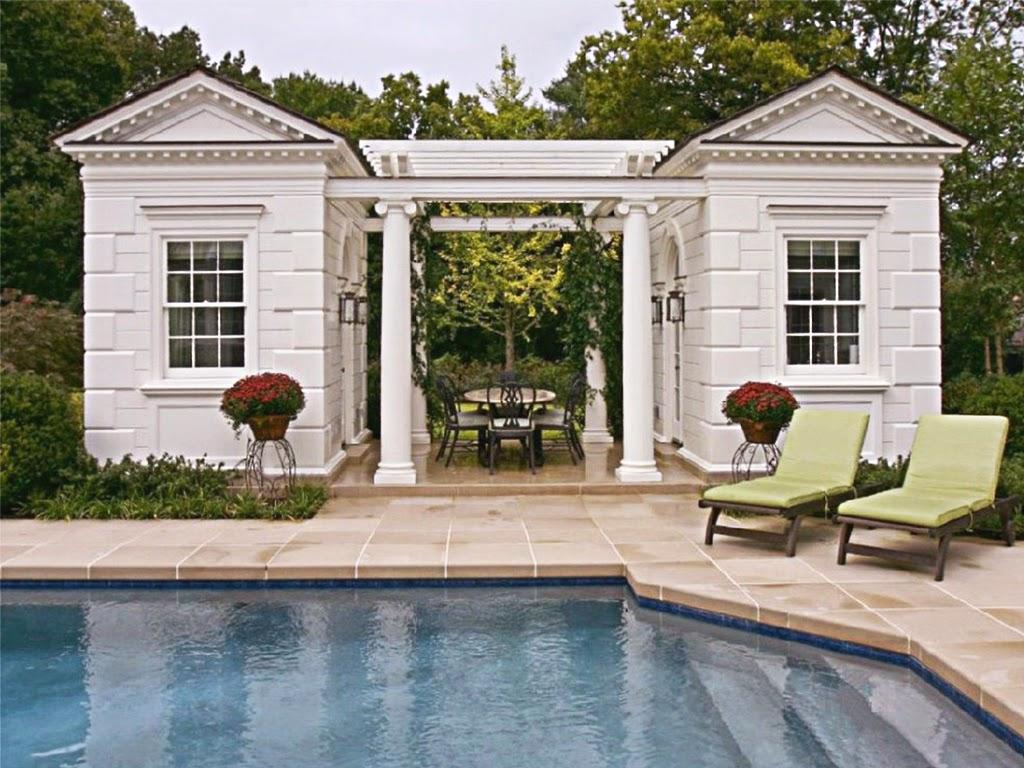 casa oaspeti cu pergole si profile decorative din polistiren, fatade case