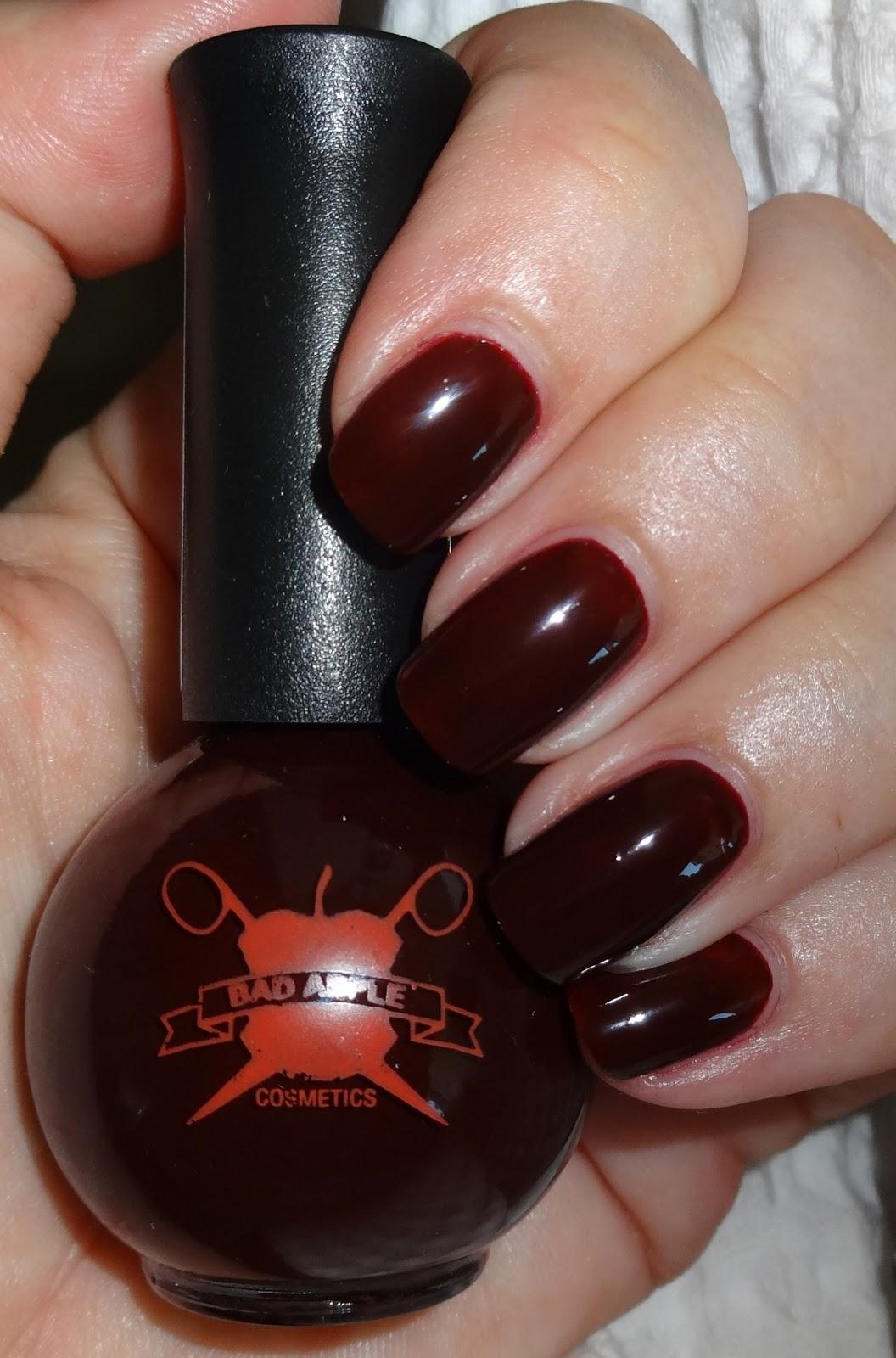 Wendy S Delights Bad Apple Cosmetics Nail Polish Review Akane