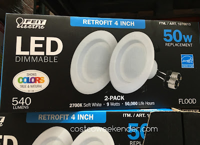 Brighten up any room with the Feit Electric 40 Watt LED 4-inch Retrofit Kit