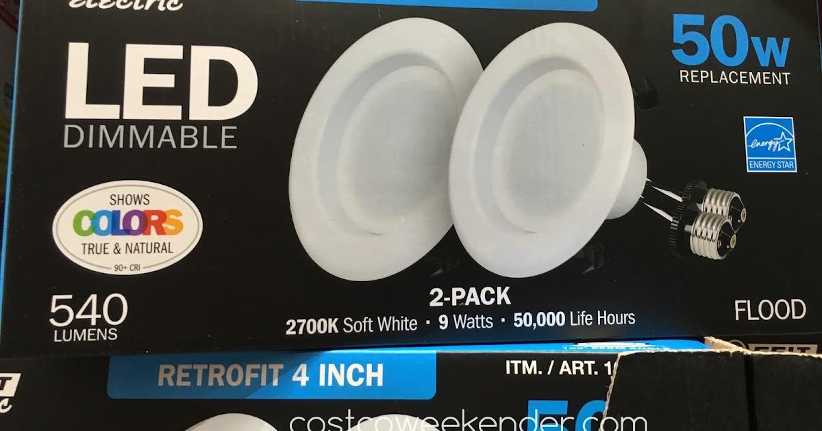 electric 40 watt led 4 inch retrofit kit 2 pack costco weekender. Black Bedroom Furniture Sets. Home Design Ideas